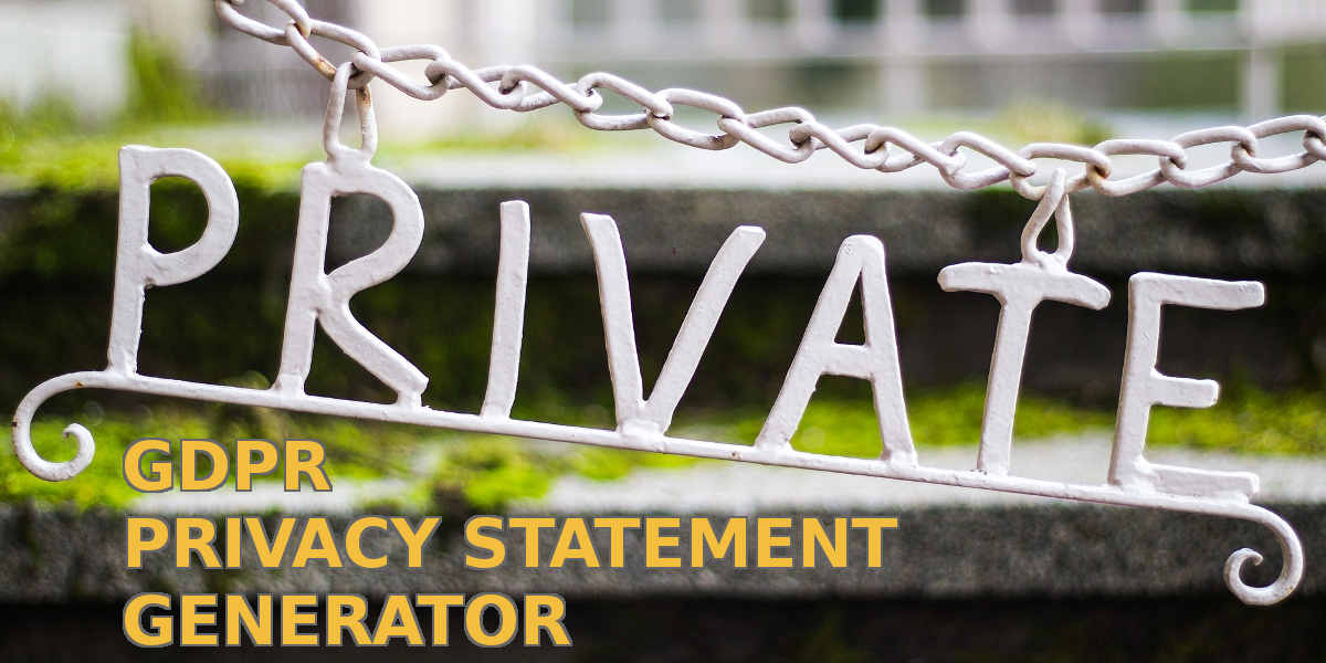 Read more about the article Finnish GDPR privacy statement generator, anybody?
