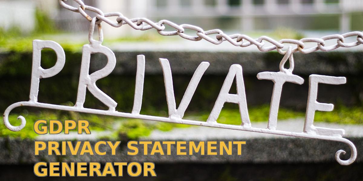 Finnish GDPR privacy statement generator, anybody?